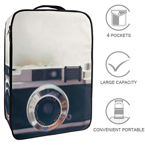 Tragbare Reise-Schuhtasche mit Reißverschluss, Sportschuh-Tragetasche, passend für bis zu Größe 12, Urlaub, Segelboot und Heißluftballon-Muster