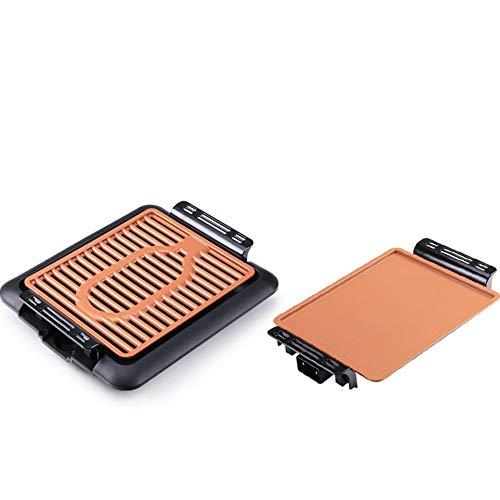 Rauchfreie Antihaft- Elektrogrill, Multifunktions-Elektro-Grill, Innen-Elektrogrill, Grill