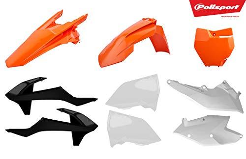 Moto Polisport complet Panneau/plastiques kit Orange/noir/blanc