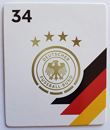 Rewe EM 2020 DFB - Sammelkarten - Normale - Nr. 34 - DFB Logo - Wappen - Plus 1 spezielle toysagent Sonderkarte