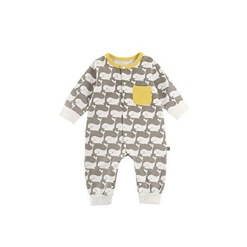fairy baby Fée bébé garçons Filles Romper Pyjamas Nouveau-né Manches Longues modèle de Dessin animé Size 73 (Whale)