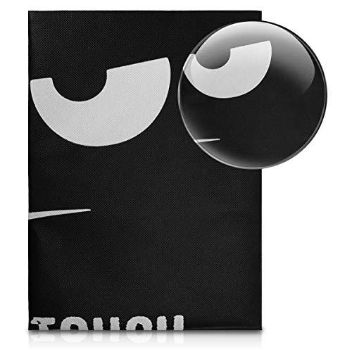 kwmobile Funda Compatible con HP Envy Photo 5030 - Cubierta de Impresora Blanco/Negro Don't Touch my Printer