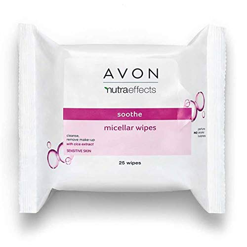 Avon Toallitas micelares Nutra para la cara, extra suaves para pieles sensibles, ideales para viajes