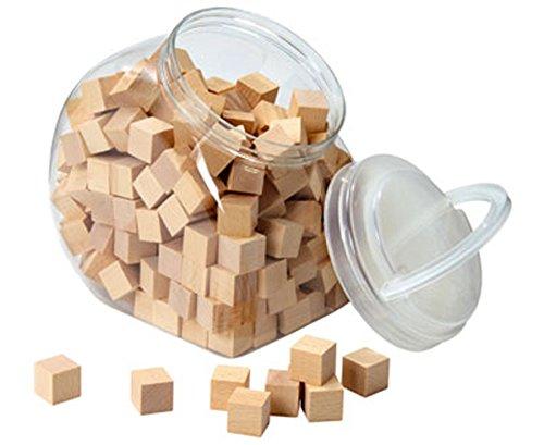 Unbekannt Geometrie-Körper Holz-Würfel 2 x 2 cm + Aufbewahrungsbehälter - Bauen Legen Kinder Mathematik-Set Lehrmittel Cubo-Würfel