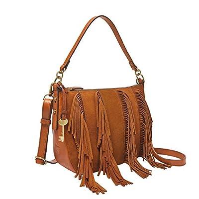 Fossil Women's Jolie Leather Crossbody Handbag, Brown