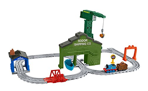 Thomas & Friends DVT13 Cranky at the Docks Set, Thomas the Tank Engine Toy Train Set, Adventures Toy Train, 3 Year Old