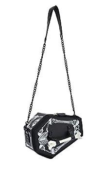 TOKYO-T Gothic Shoulder Bag Purse Coffin Box Halloween Accessories  Black