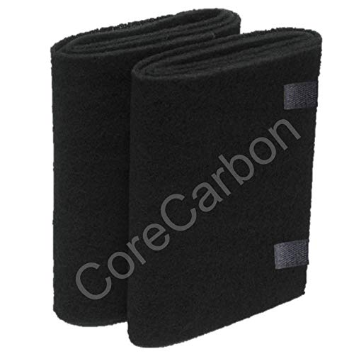 CoreCarbon 2-Pack Exact Fitment Pre-Filter Designed to Fit Honeywell 21500 or Two HRF-F1 (Labeled F) Air Purifier Round Replacement Filters