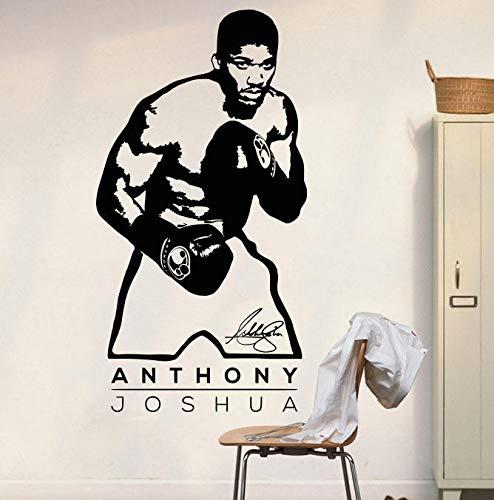 tzxdbh Anthony Joshua Wandkunst Aufkleber Aufkleber Vinyl Poster Sport Boxen Aufkleber Home Wand Dekor Aufkleber für Kinder Jungen Schlafzimmer 42 * 80 cm