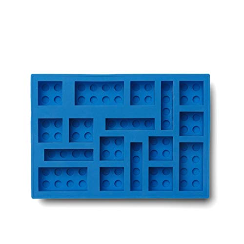 Room Copenhagen, LEGO Iconic Ice Cube Tray - Dishwasher Safe, Silicone Brick Mold - Bright Blue