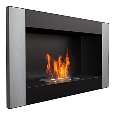 Kratki organic fireplace GOLF| ethanol wall fireplace | ideal for home, living room or bedroom | TÜV - Rheinland tested | various styles and patterns