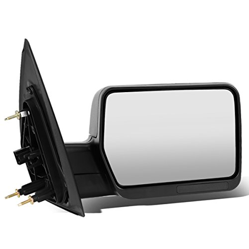 Right Passenger Side Black Manual Adjustment Folding Rear View Side Towing Mirror Replacement for Ford F-150 04-14