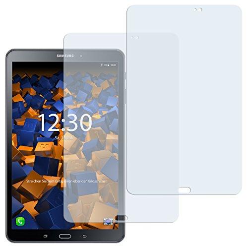 mumbi Schutzfolie kompatibel mit Samsung Galaxy Tab A 2016 10.1 Zoll Folie klar, Displayschutzfolie (2X)
