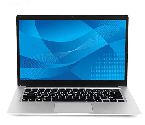 Laptop da 14 pollici (Intel Celeron a 64 bit, 4 GB di RAM DDR3, 64 GB di eMMC, batteria da 10000 Mah, webcam HD, sistema operativo Windows 10 preinstallato, display IPS 1366 * 768 FHD) Notebook