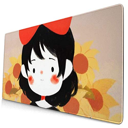 Extra großes Mauspad -Tiny Kiki Art Print Schreibtisch Mousepad Protective Keyboard Desk Mausmatte für Computer/Laptop