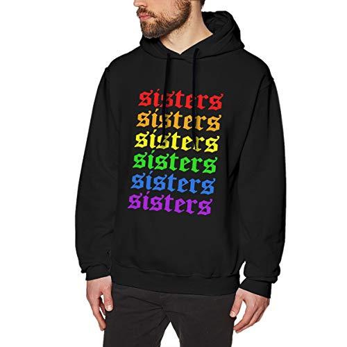 Rainbow Ja-mes Char-les Sis-ters Mens Classic Pullover Hoodie Long Sleeve Hooded Sweatshirt Drawstring Sweatshirt