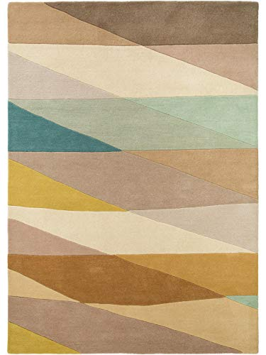 Benuta Wollteppich Aurora Beige 140x200 cm - Naturfaserteppich aus Wolle