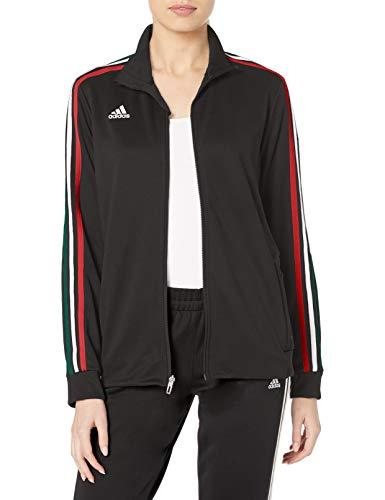 adidas Damen Tiro Sweat-Wicking Fußball Trainingsjacke, Damen, Sweatjacke, Afs Tiro Tr Jkw, schwarz, X-Small