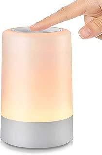 G Keni Night Light for Kids, Touch Sensor Table Lamp Cordless Bedside Light Modern Dimmable LED Nightstand Lamp for Home & Office