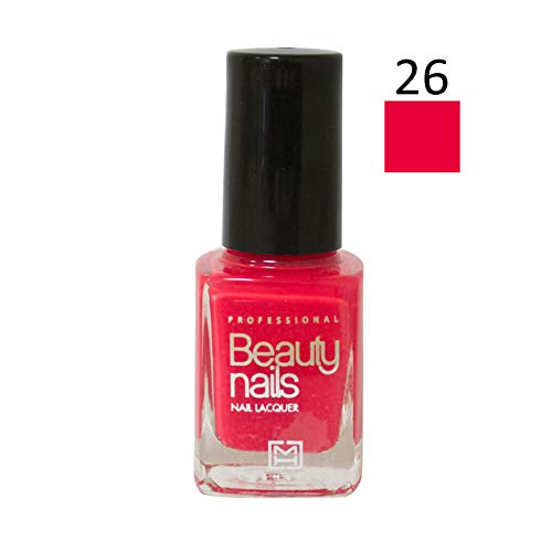 Beauty Nails Professional 26 Fluor Pink nagellak, per stuk verpakt (1 x 14 ml)