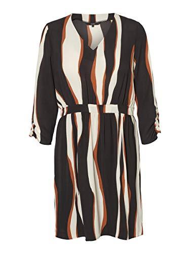 VERO MODA Damen VMFIDELA 3/4 Short Dress WVN Kleid, Weiß (Birch AOP:Fidela), XS