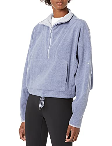 Alo Yoga Yin Yang Half Zip Pullover Chaqueta con Forro, Blue Moon Heather, M para Mujer