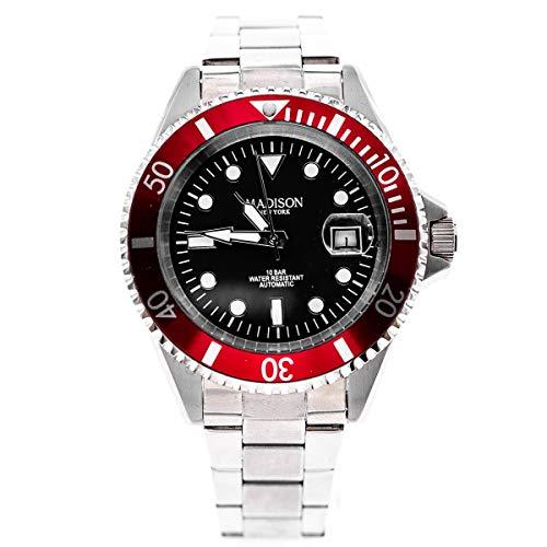 Madison automatico orologio da uomo rosso g2954t12
