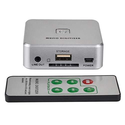 perfk Audio-Digitalisierer/Musik-Digitalisieren, Betrieb ohne PC, 3,5 mm Cinch-in Audio Grabber mit Fernbedienung