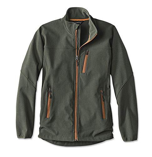 Orvis Men's Trout Bum Softshell Jacket/Trout Bum Softshell Jacket, Olive, Large