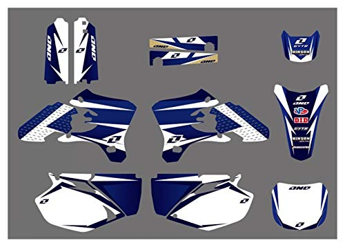 XUEFENG 3m 28mil stile moto team graphics background Decalcomanie adesivi per Yamaha YZ250F YZ450F YZF250 YZF450 2003-2005