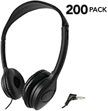 SmithOutlet 200 Pack Over The Head Low Cost Headphones in Bulk