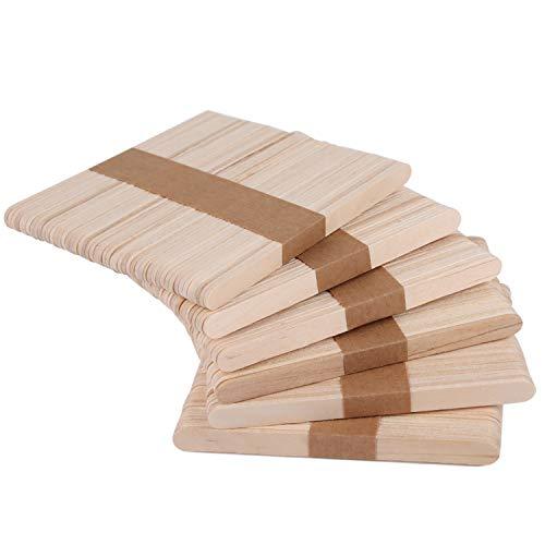 Xingsky Eisstiele aus Holz Holzstäbchen Popsicle Sticks HolzstäbchenzumBasteln Eisstäbchen BastelhölzerStreichholz zumBasteln EIS Machen 300 Stück 11.5 cm lang, Natur