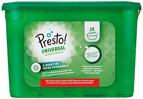 Marchio Amazon - Presto! Detersivo universale in capsule 152 lavaggi (4 confezioni da 38 lavaggi)