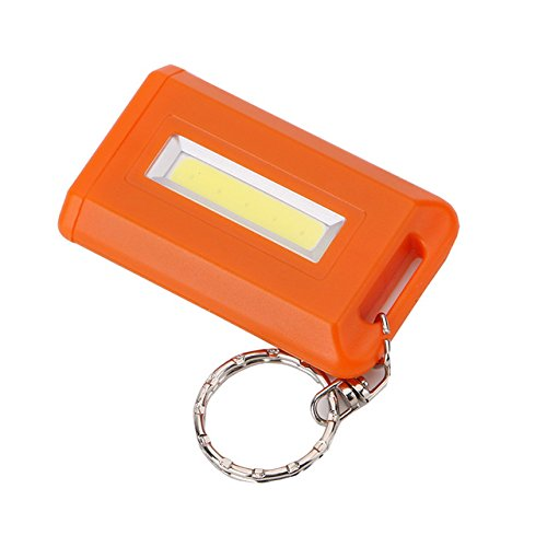 Orange : Mini porte-clés portable 4 couleurs, lampe torche LED COB à mode unique 300 lm