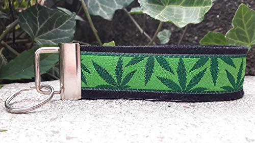 Schlüsselanhänger Schlüsselband Wollfilz schwarz Hanf hellgrün dunkelgrün Geschenk!