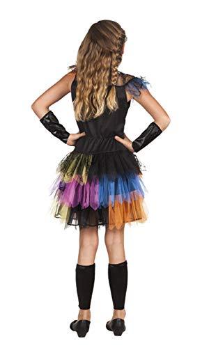 Costume bambina Principessa degli Scheletri con tutu multicolore (Taglia 4-6 anni)