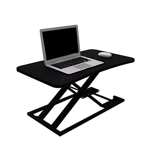 YJFENG Mit Gasfeder Stand Up Desk, Riser Workstation, Höhenverstellbar Tragend 20kg, Für Sitzendes Personal Höhe 150-185 cm (Color : Black, Size : 73x47x6-40cm)