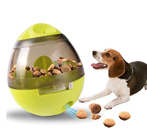 Ewolee Hundespielzeug Ball, Tumbler Spielzeug Haustierfutter Spielzeug Ball ungiftig Bite resistent Spielzeug Ball Intelligentere Interaktive IQ-Behandlung-Kugel Langlebiger Hundespielball