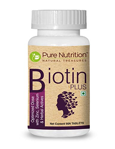 Pure Nutrition Biotin Plus 10000 mcg - 60 Veg Tablets | All Natural...