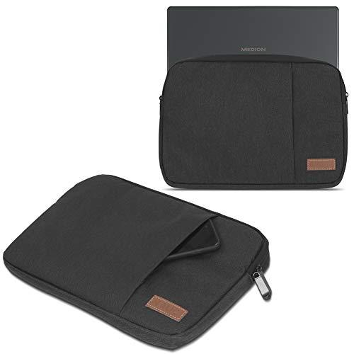 UC-Express Notebook Tasche kompatibel für Medion Akoya E2293 Hülle Schutzhülle Schwarz/Grau/Blau Cover Hülle, Farbe:Schwarz