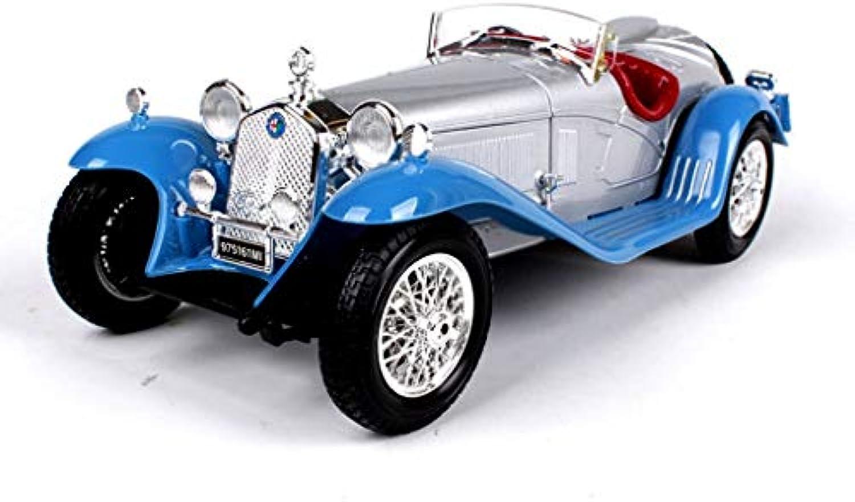 GAOQUN-TOY 1 18 Alfa Romeo 8C-Simulationslegierungs-Hauptfahrzeugmodell (Farbe   Blau)