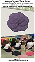 CHILDREN'S CRAZY CARPET CIRCLE SEATS - Pretty Plum Purple 18 Round Rug Mats - NEW Cut Pile by Children's Choice