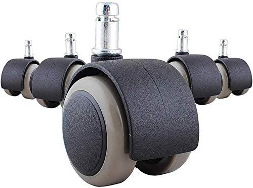 Poweka Ruedas Silla Oficina 11mm/50mm para Suelos Duros, Ruedas Giratorias para Sillas de Oficina de Suelo Duro, Ruedas para Sillas Giratorias (5 Piezas)