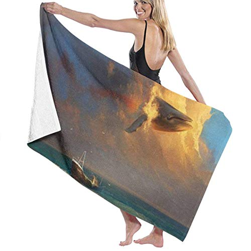 Yuanmeiju Toalla de baño Beach Towels Whale Bath Towels For Teen Girls Adults Travel Towel Washcloth 31x51 Inches