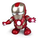 Evereap Robot De Baile MuñEca ElectróNica Juguetes ElectróNicos Iron Man Juguete De Baile Robot De Baile De Luz MúSica Flexible,para Juguetes NiñOs Regalo Los NiñOs Coleccion
