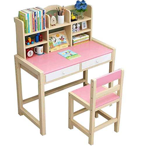 Q/S Children Desk,Children Study Table,Height Adjustable Kids Desk and Chair Set,Children's Witing Desk(Table:80x50 cm)