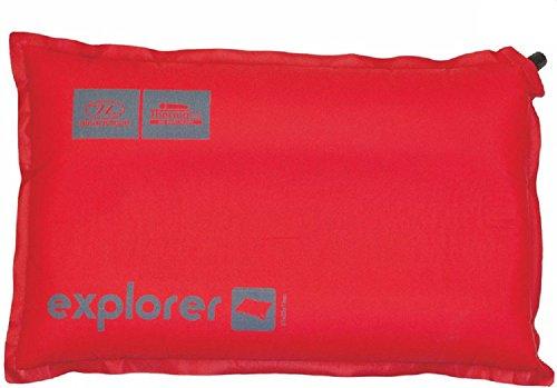Highlander Outdoor Products Explorer Rouge Auto gonflant Blow up Air Camping Oreiller de voyage Tapis de couleur rouge