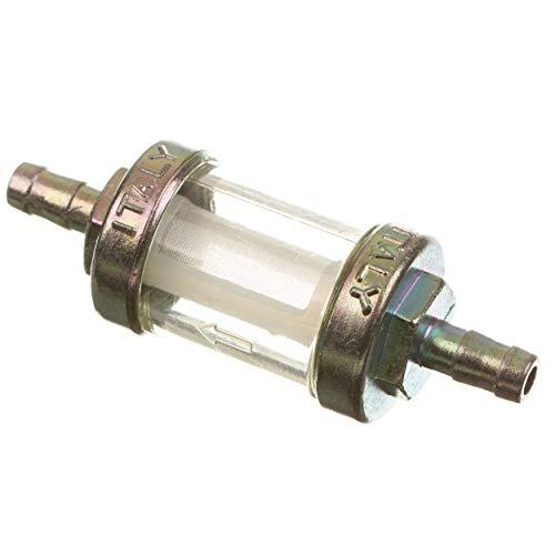 OMG 10315B Benzinfilter - massive Metallausführung - ø 6 mm Anschluss