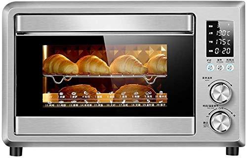 WOHAO Mini Toaster, Pizzaofen, große Kapazität, aus Edelstahl, Heiztisch Six-Toaster und Abdeckung inklusive Grillblech Netto Rotating