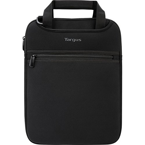 Targus Vertical Slipcase Secure Business Professional Travel Laptop Bag with Hideaway Handles, Cross Shoulder Strap, Protective Padding for 12-Inch Laptop, Black (TSS912)